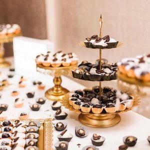 6 Stüke 3 Etagen Runde Kuchen- und Tortenständer Kuchenstand Kuchen Cupcake Ständer aus Hochwertigem Eisen