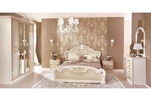 Barock Schlafzimmer Granda in Beige 6-Teilig