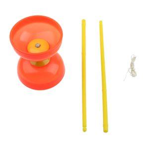 Plactic Diabolo mit Handstäben und Schnurjonglage-Spielzeug-Orange