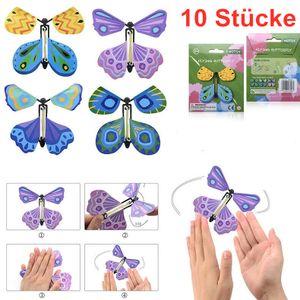 Melario 10x Magic Butterfly magischer fliegender Schmetterling Magischer Spielzeug Trick