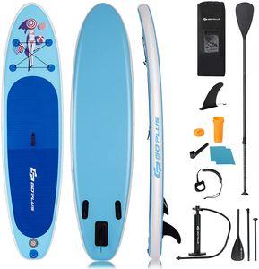 GOPLUS SUP Paddelboard 305 x 76 x 15 cm aufblasbares Surfboard Stand Up Paddel Board Set Surfbrett, mit Pumpe, Paddel und Tragetasche