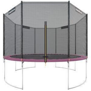 trampolin.one - Gartentrampolin Starter 366 cm in Pink mit Sicherheitsnetz