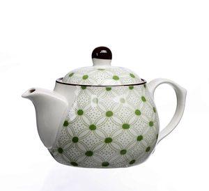 Ritzenhoff & Breker Lime Rio Teekanne, Tee Kanne, Keramikkanne, Keramik, Grün, Braun, Weiß, 500 ml, 744828