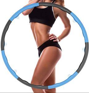Hula Hoop, Gewichtsverlust und Massage für Erwachsene und Kinder Hula Hoop, 6-8 abnehmbarer Hula Hoop, geeignet für Fitness / Sport / Zuhause / Büro / Bauchformung (1,0 kg)