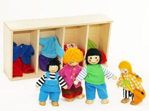 Puppenfamilie FREDA Biegepuppen Wechselkleider 4-teilig
