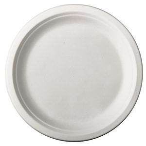 """PAPSTAR Zuckerrohr-Teller """"pure"""" rund Durchmesser: 230 mm weiß 50 Stück"""