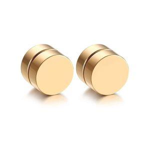 Mllaid Magnetische Ohrstecker aus hochglanzpoliertem Edelstahl für Männer