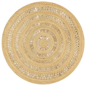 dereoir Teppich Handgefertigt Jute Geflochten 150 cm