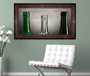 3D Wandtattoo Weinflaschen leer retro Stillleben selbstklebend Wandbild Tattoo Wohnzimmer Wand Aufkleber 11L1633, Wandbild Größe F:ca. 162cmx97cm