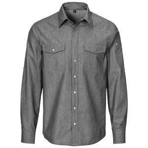 233 - Herren-Jeanshemd, Denim : schwarz 100% Baumwolle 140 g/m² XL Farbe: schwarz Artikel: 100% Baumwolle 140 g/m² Grösse: XL