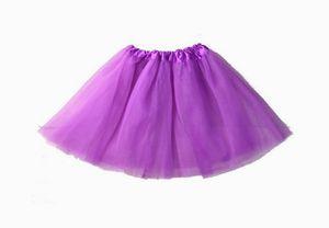 Tütü Tutu Ballettrock Tüllrock Petticoat Ballettkleid Rock Fasching karnaval Kinder 3 Lagen 30cm Lila