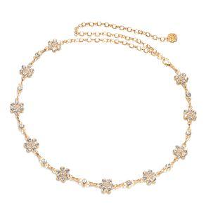 Damen Strass Körperkette Bauchkette Taillenkette Kettengürtel Dekoratives Kleidzusätze Ketten, Gold