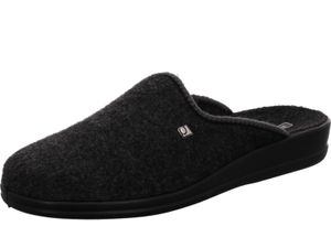 Rohde Herren Hausschuhe Pantoffeln Pantoletten Lekeberg 2683, Größe:43 EU, Farbe:Schwarz