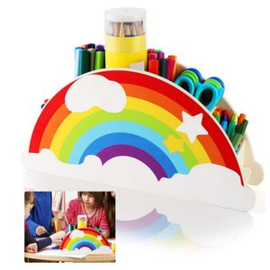 Schreibtischorganizer aus Holz, Stifteköcher/Office Aufbewahrungsbox/Stifthalter/Tisch-Organizer/Multifunktions -Organisator für Büromaterial, Klassenzimmer Organisation