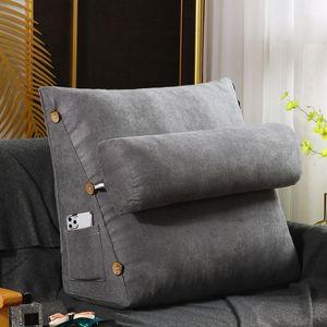 60x22x50cm Ergonomisches Rückenkissen Lesekissen Keilkissen für Sofa Bett Büro