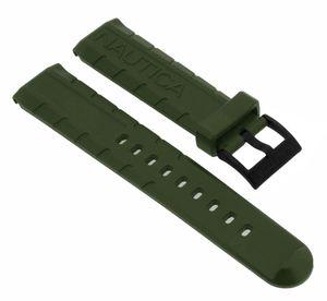 Nautica Herren Uhrenarmband 22mm grün Kunststoff A16634G A13028GS