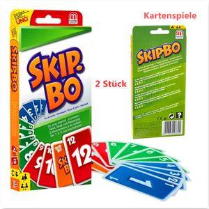 2x Für Kinder und Familie geeignete Kartenspiele Skip-Bo(bunte Karte) aus UNO