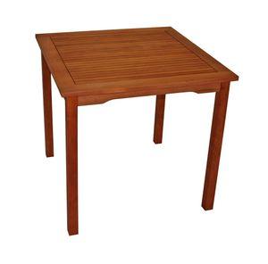DEGAMO Gartentisch Bistrotisch Holztisch Tisch LAGO 80x80cm quadratisch, Eukalyptus Holz geölt,