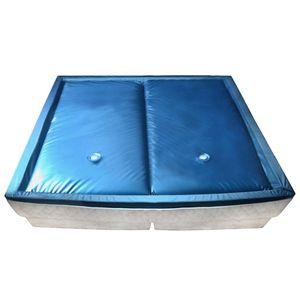 Wasserbettmatratzen-Set mit Einlage + Trennwand 200 x 200 cm F5