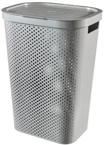 Curver INFINITY Wäschebox mit Lochmuster, 60 l, Grau