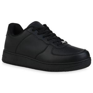 Giralin Herren Sneaker Low Schnürer Freizeit Profil-Sohle Schnür-Schuhe 836344, Farbe: Schwarz, Größe: 40