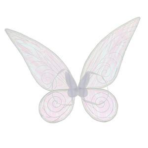glänzendes änderndes Schmetterlingsengels-Feeflügel-erwachsene Partei-Abendkleidweiß Feenflügel Flügel 2 Größen Weiße Kinder