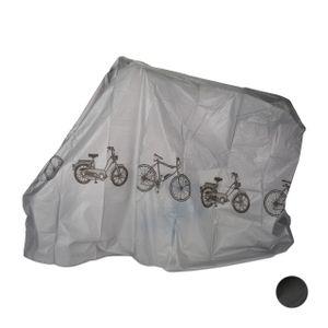 relaxdays 1 x Fahrradgarage grau, Schutzhülle Fahrrad, Abdeckplane, Staubschutz, Plane