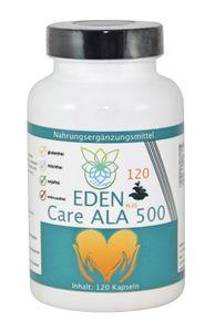VITARAGNA® Eden Care ALA Alpha-Liponsäure Plus 120 Kapseln als R-ALA bzw. R-Form, hochdosiert mit 500 mg pro Kapsel für Mann und Frau