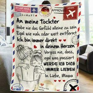 Briefe an meine Tochter Liebesdecke Druckdecke auf dem Bettgeschenk Heimdecke