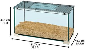hamsterkäfig Jerry 81 81,7 x 46,9 cm Glas schwarz