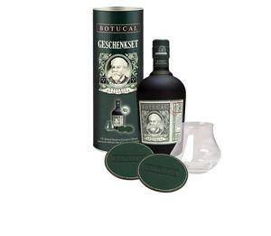 Botucal Reserva Exclusiva Rum + Glas und 2 Lederuntersetzer Geschenkset Venezuela | 40 % vol | 0,7 l