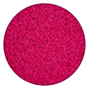Einfarbiger Teppich Eton für Zimmer, Wohnzimmer, Schlafzimmer, Teppichboden Auslegware, Verschiedene Größen Kreis 200 cm Rosa