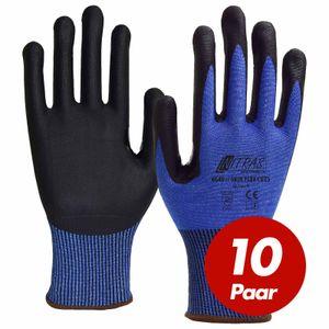 NITRAS Schnittschutzhandschuh Skin Flex 6640 CUT 5 - VPE 10 Paar - verstärkte Daumenbeugen, hoher Schnittschutz Größe:9