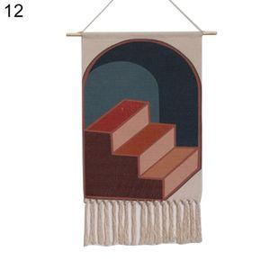 Boho Baumwolle Leinen Quaste Wandteppich h?ngen Anh?nger Bild Home Hotel Wanddekoration 12 #