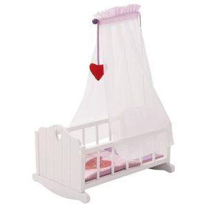 roba 98335, Puppenbett/Kinderbett, 3 Jahr(e), Pink, Weiß, Baumwolle, MDF, Polyester, Kind, Mädchen