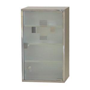 Style home  Medizinschrank Edelstahl  Silber 4 Ebenen 60x30x12 cm Erste Hilfe Schrank  Medikamentenschrank mit Schloss