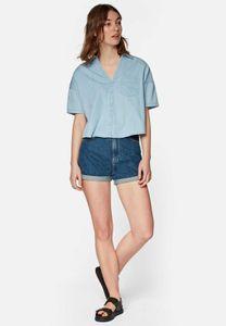 Mavi YOUNG FASHION Damen DENIM SHIRT Damen Bluse Hemd Freizeit Business light indigo XL
