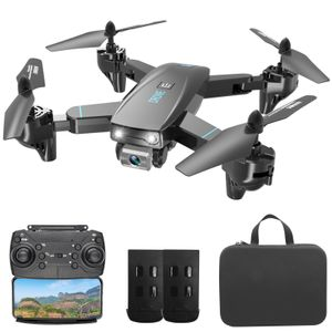 CSJ S173 RC Drohne mit Kamera 4K Dual Kamera WiFi FPV Faltbarer Quadcopter mit Funktion Flugbahn Flug Headless Modus 3D Flug Aufbewahrungstasche Paket 2 Batterie