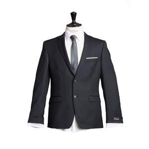 Größe 110 atelier torino Business Sakko Donato mit Seitenschlitzen Schwarz Uni Drop 8 Schmale Passform 100% Schurwolle 270g
