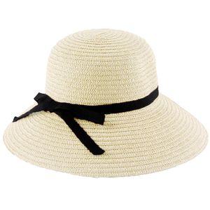Mode Frauen Sonne Hut Stroh Hut Wide Brim Sommer Strand Kopfbedeckung【Beige】