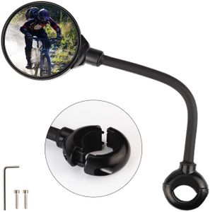 Fahrradspiegel, 360° Drehspiegel Rückspiegel Fahrrad, Fahrrad Reflektoren für Fahrrad/Motorrad/E Bike/Roller/Mofa