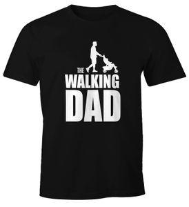 Herren T-Shirt The Walking Dad Vater Papa Geschenk Fun-Shirt Moonworks®  L