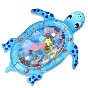 Dadanar  Baby Wassermatte,aufblasbare Schildkröte Baby Spielmatte, Wassermatte Baby, große Bauch Zeitmatte, auslaufsichere bunte Meerwassermatte, Babyspielzeug für die frühe Entwicklung des Kindes