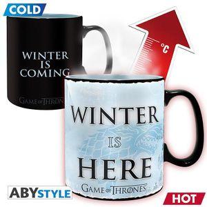Game of Thrones Thermoeffekt Tasse XL Winter Is Here
