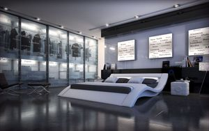 Komplettbett Massa in weiss mit Lattenrost und Matratze