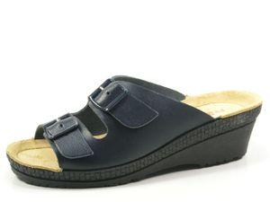 Rohde 1463-56 Neustadt-50 Schuhe Damen Pantoletten Clogs Weite G, Größe:37 EU, Farbe:Blau