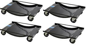 4x Auto Rangierhilfe für PKW 1800 kg Rangierroller Rangierwagenheber Wagenheber