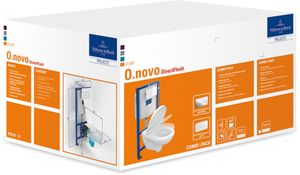 Villeroy & Boch Combi-Pack ViConnect O.NOVO inkl. Wand-WC tief und WC-Sitz weiß