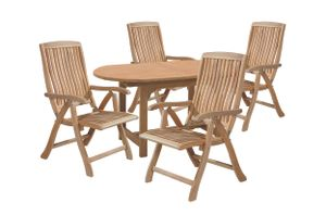 LC Garden Sitzgruppe Gartenset Teak Holz Dining Set II