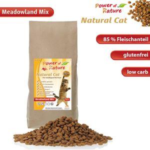 2|7,5|15 kg Power of Nature Natural Cat Meadowland Mix Katzenfenfutter Trockenfutter Huhn Lachs getreidefrei glutenfrei, Packungseinheit:15kg (6.07€/kg)
